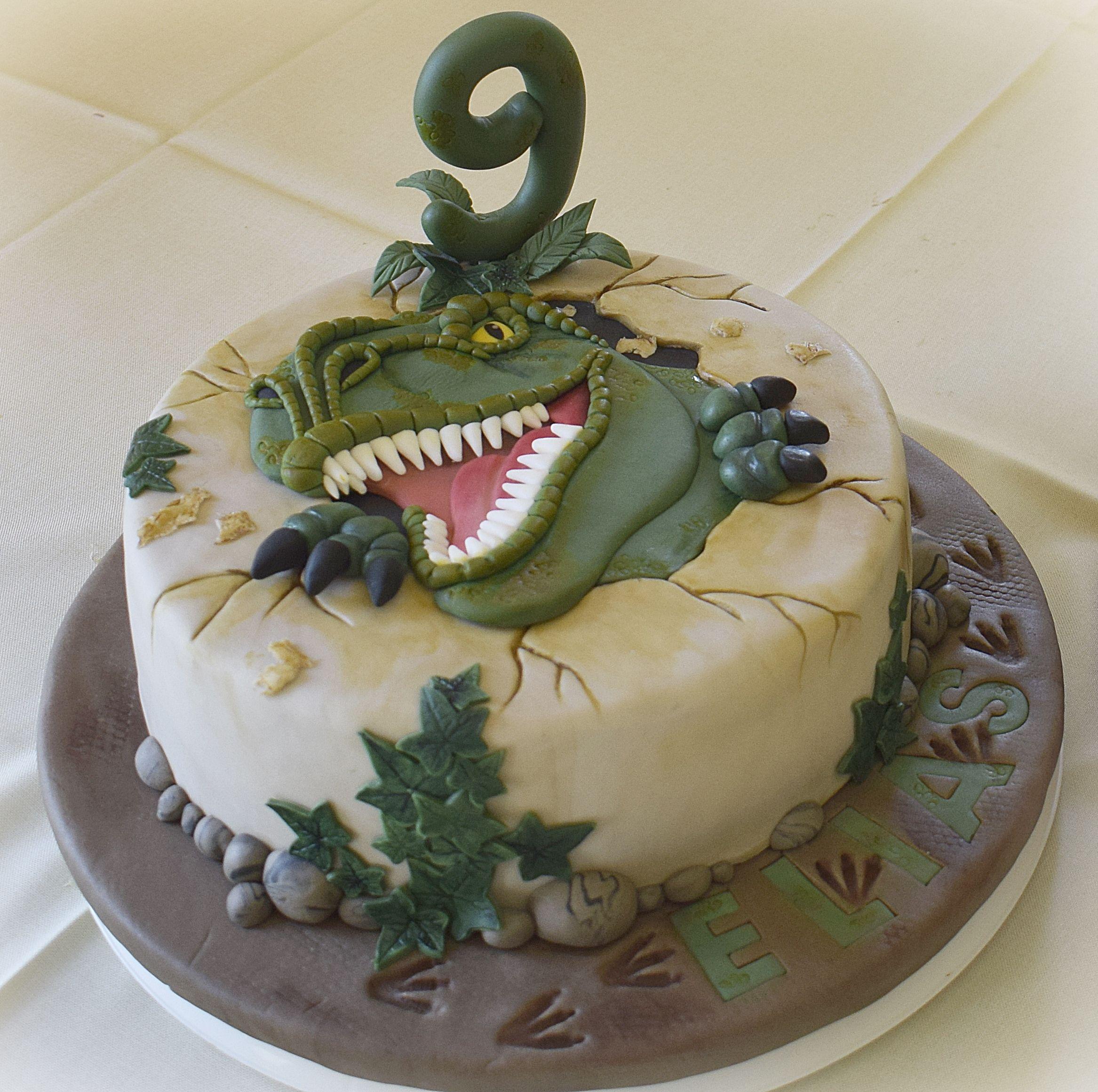 Cake Kuchen Backen Fondanttorte Fondant Torte T Rex Dino Torte Dinotorte Kuchen Kuchen Und Torten Kuchen Ohne Backen