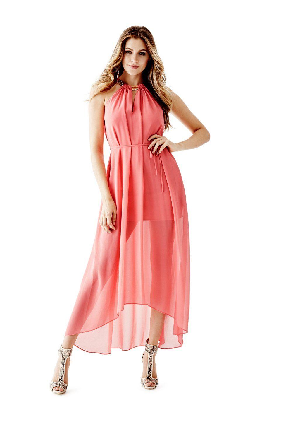 Embellished Halter Maxi Dress | GUESS.com #GUESSResort | GUESS ...