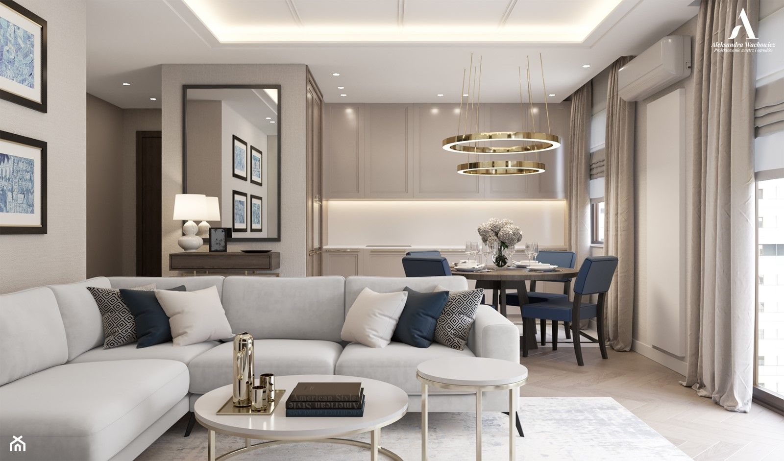 Salon Z Kuchnia Aranzacje Inspiracje I Pomysly Na Modny Wystroj 2020 Modern Classic Living Room Chic Home Decor Home Decor