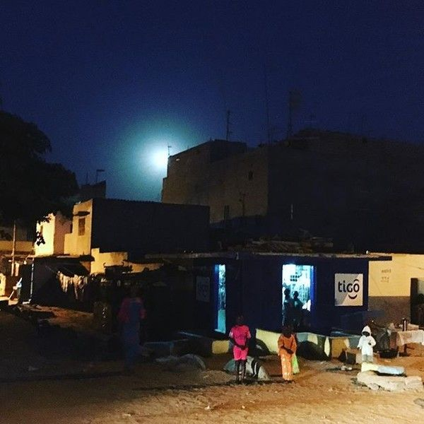 Moon over #Dakar