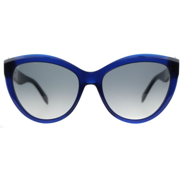 07efaf75225 Alexander McQueen AM 0003S 003 Blue Cat-Eye Plastic Sunglasses ( 260) ❤  liked on Polyvore featuring accessories