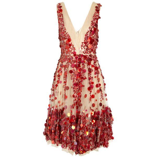 VALENTINO Embellished tulle dress JENNIFER LOPEZ owns too! ❤ liked on Polyvore