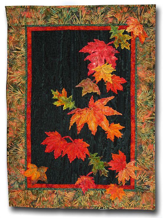 Hot Ribbon Art By Lennie Honcoop Landscape Art Quilts Fall Quilts Landscape Quilts