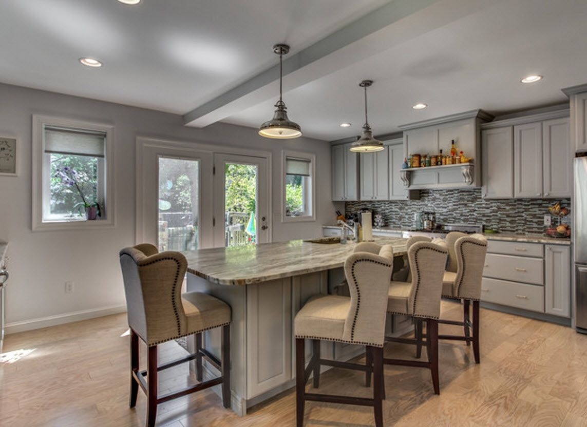 This Gray Kitchen Features Our Kabinart Cabinets Painted In A Custom Shade Of Grey A Perfect Example Of W Contemporary Kitchen Kitchen Gallery Custom Shades