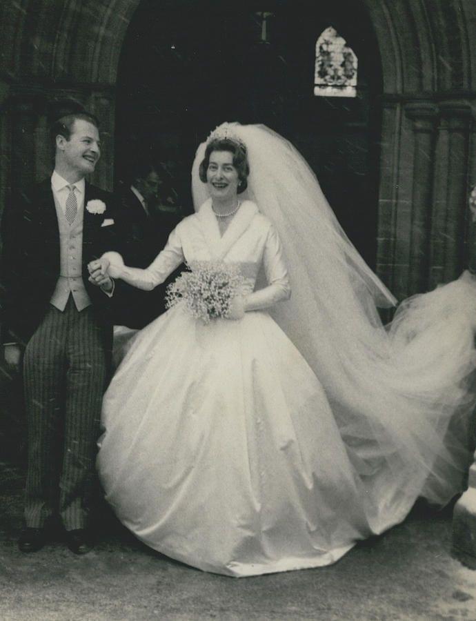 Lady Pamela Hicks Wearing The Tiara On Her Wedding Day