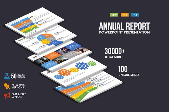 AnnualReport Powerpoint Presentation by Creative Slides on - free annual report templates