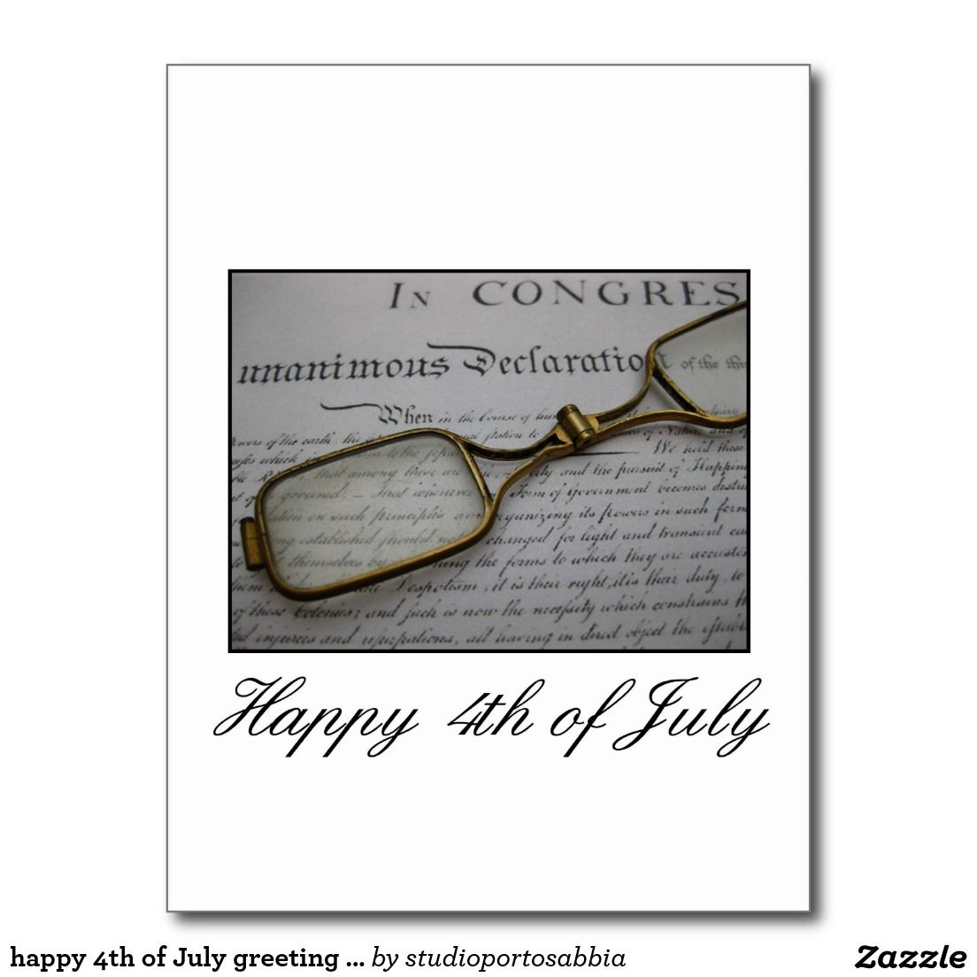 Happy 4th Of July Greeting Card Zizzling Zazzle Pinterest