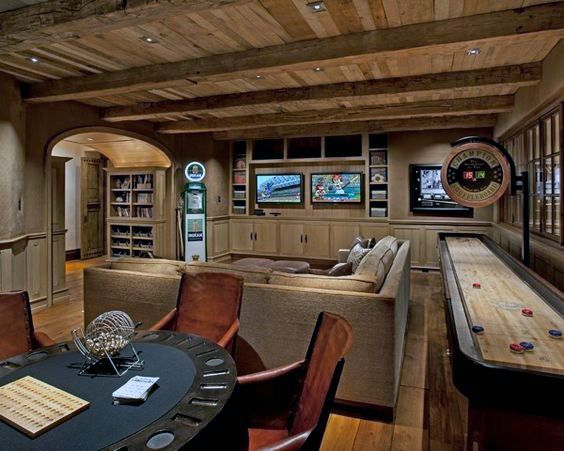 53 Awesome Basement Ideas 2021 Inspiration Guide Rustic Basement Basement Design Game Room Basement