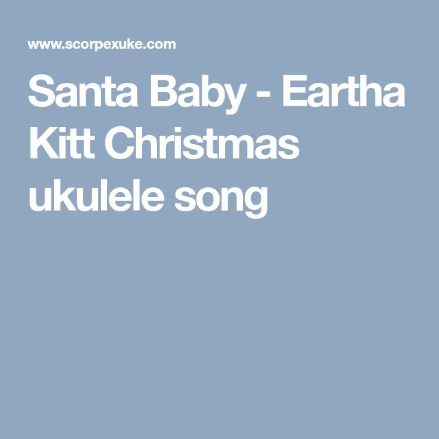 Santa Baby - Eartha Kitt Christmas ukulele song | Ukulele ...