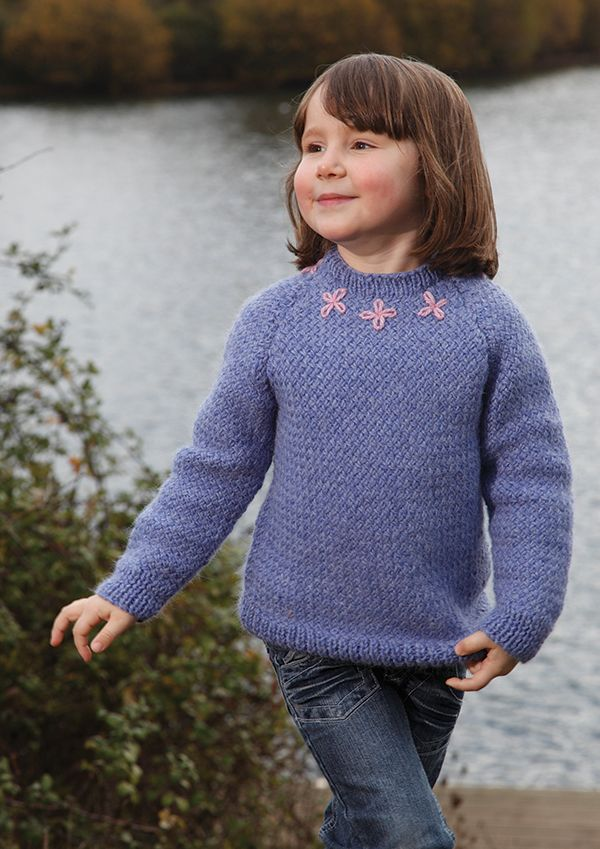 Blissful Free Girls Aran Jumper Knitting Pattern ...