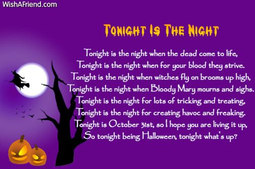 halloween poems for adults - Funny Halloween Poems For Kids