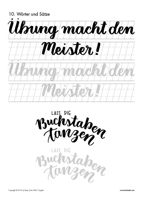 Photo of Brush Lettering Guide (Gross) – Frau Hölle Studio