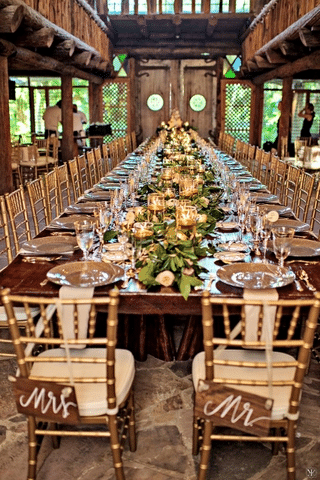 Making Your Wedding Reception Tables Pop By A Chair Affair