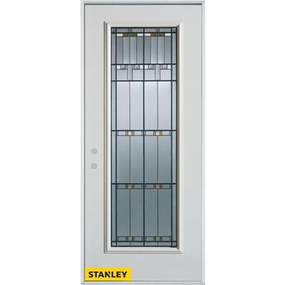 Stanley Doors   Architectural Patina Full Lite White 34 In. X 80 In. Steel