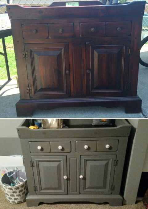 Old Dry Bar Refinished To A Changing Table Diy Home