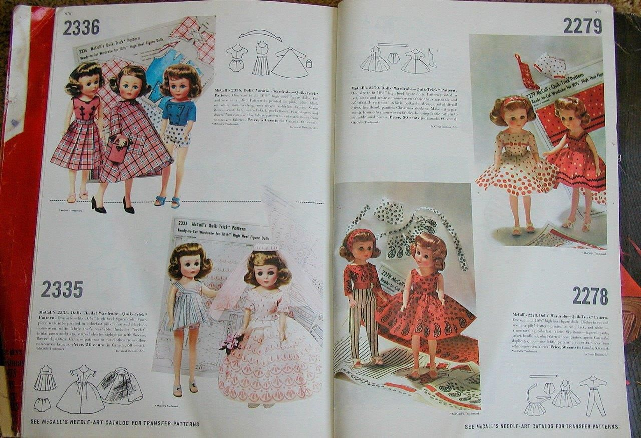 McCall's catalog, January 1961 featuring McCall's 2336 and 2335 on the left  page, 2279