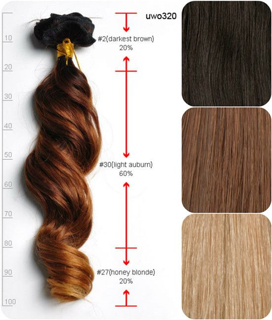 Three Tone Human Ombre Extensions For Cute Hairstyles New