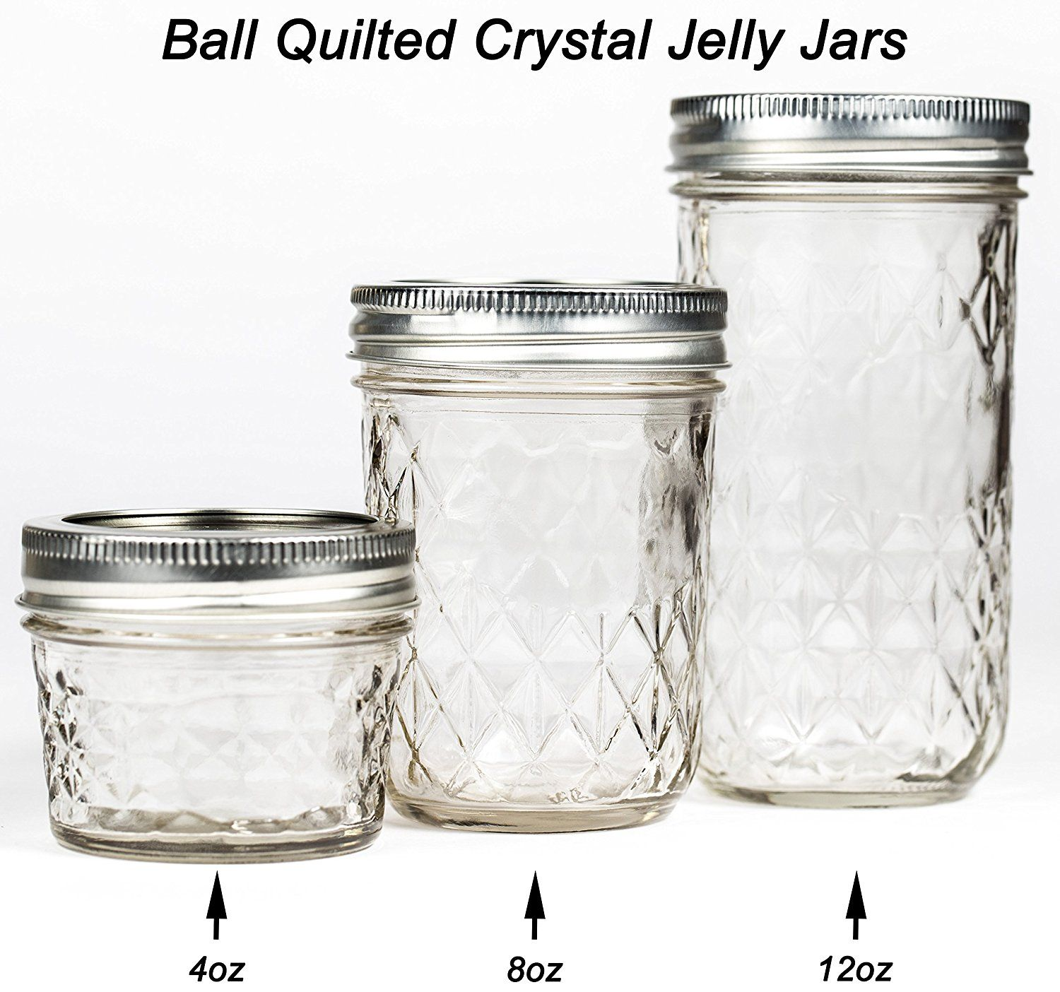 Amazon De Küche | Ball Mason Quilted Crystal Jelly Jar 8oz 3er Set Amazon De Kuche
