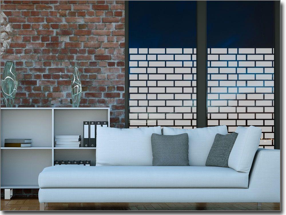 Steinmauer Folie für Fenster Sichtschutzfolie mit Motiven - folie für badezimmerfenster