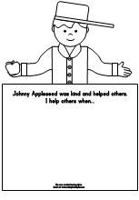 Johnny Appleseed Writing Prompt that promotes kindness and