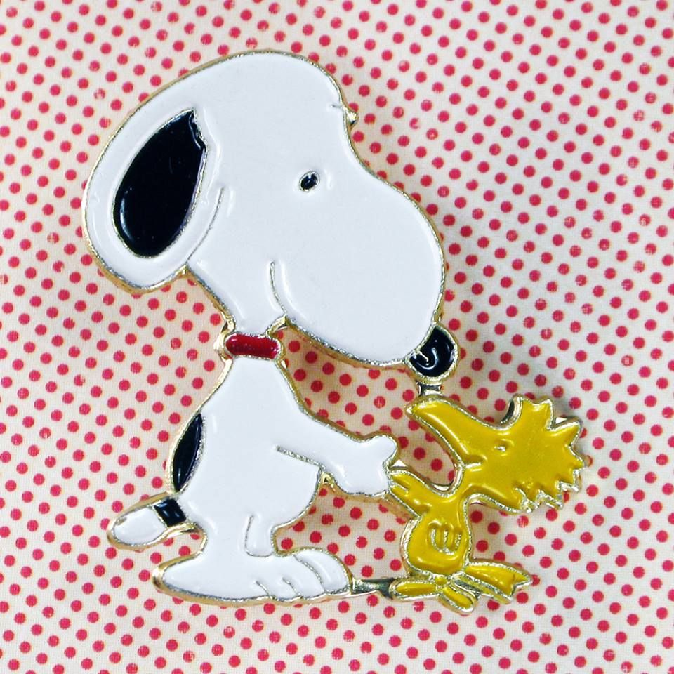 Who's a Snoopy and Woodstock fan? Let the world know your love of Peanuts with vintage Aviva enamel pins, now available in our shop at CollectPeanuts.com.