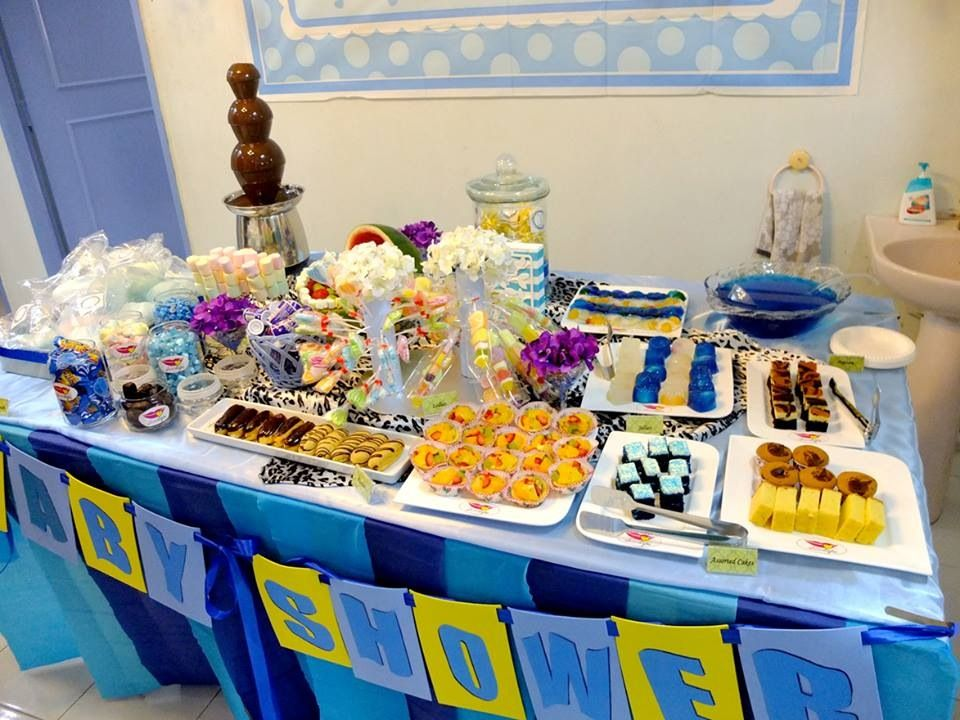 Executed   My Baby Shower Dessert Table Set Up