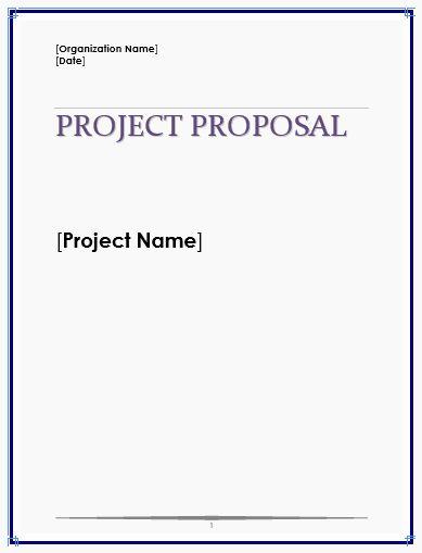 project proposal template free unique proposal templates
