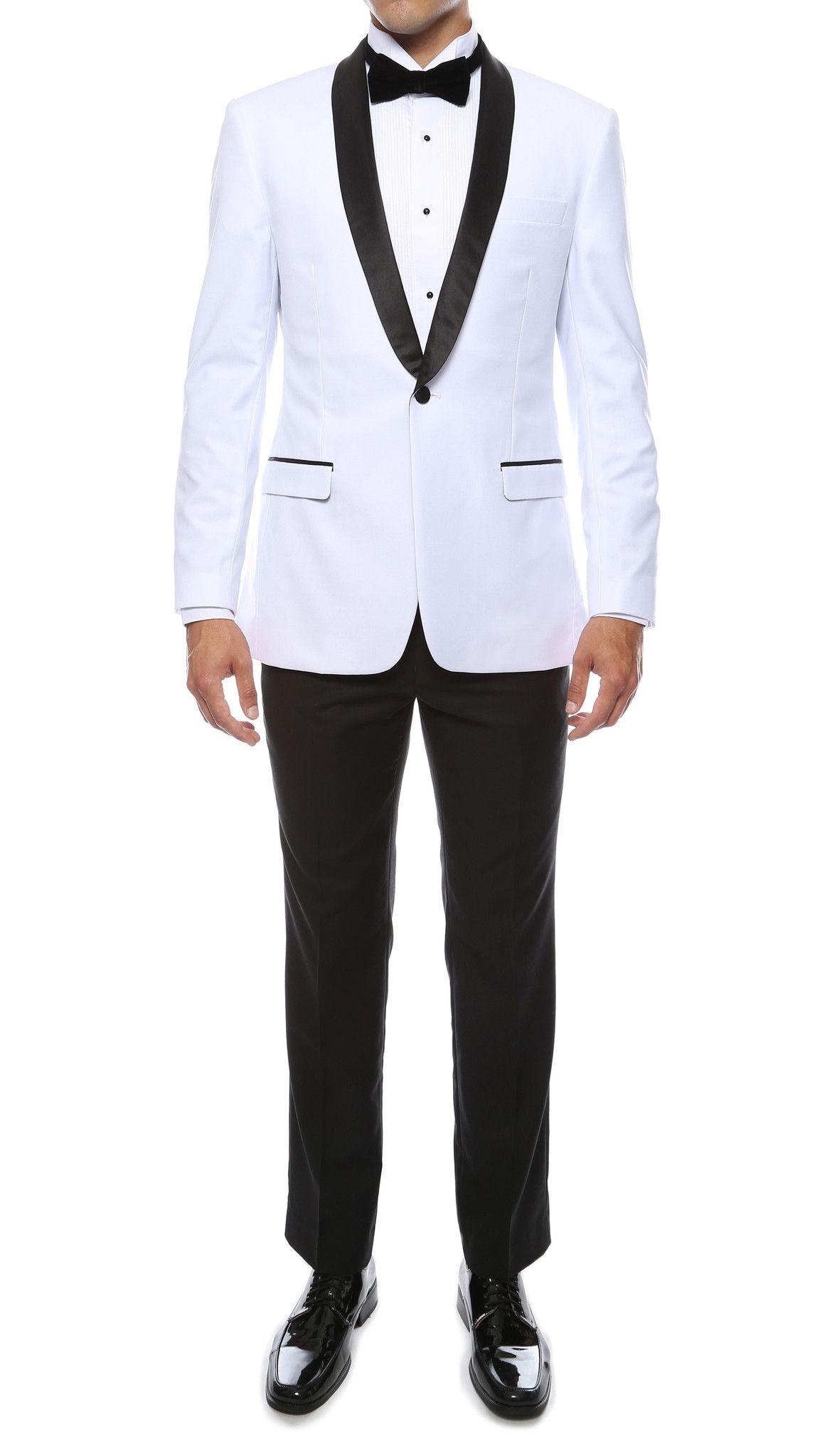The Reno Mens White Shawl Collar 2pc Tuxedo