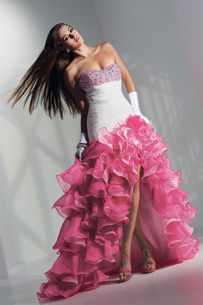 Prom dress preview by alyce paris dancing ruffles as seen in