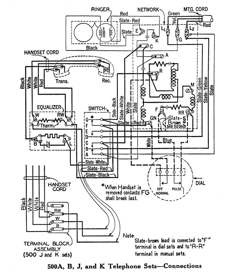 Spec For Good Old 500 Set Diagram Telephone Old Phone
