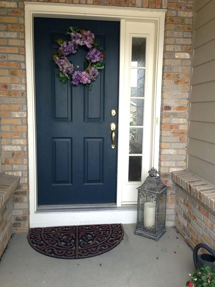 Exterior Front Door With One Sidelight Terrific Dark Side Wi Painted Doors House
