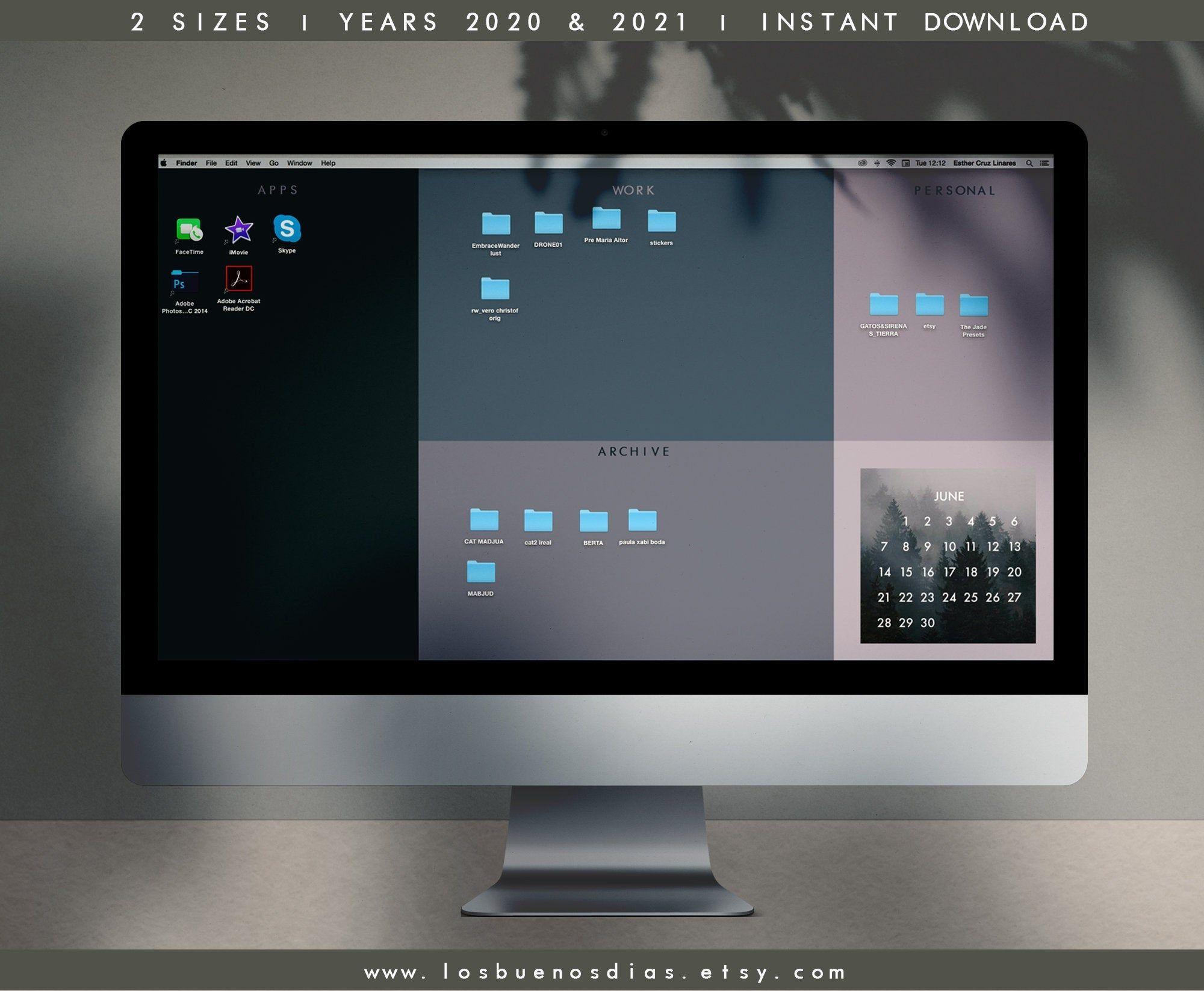 Best Way To Organize Digital Photos 2021 Desktop wallpaper organizer with 2020 2021 calendar, dark desktop