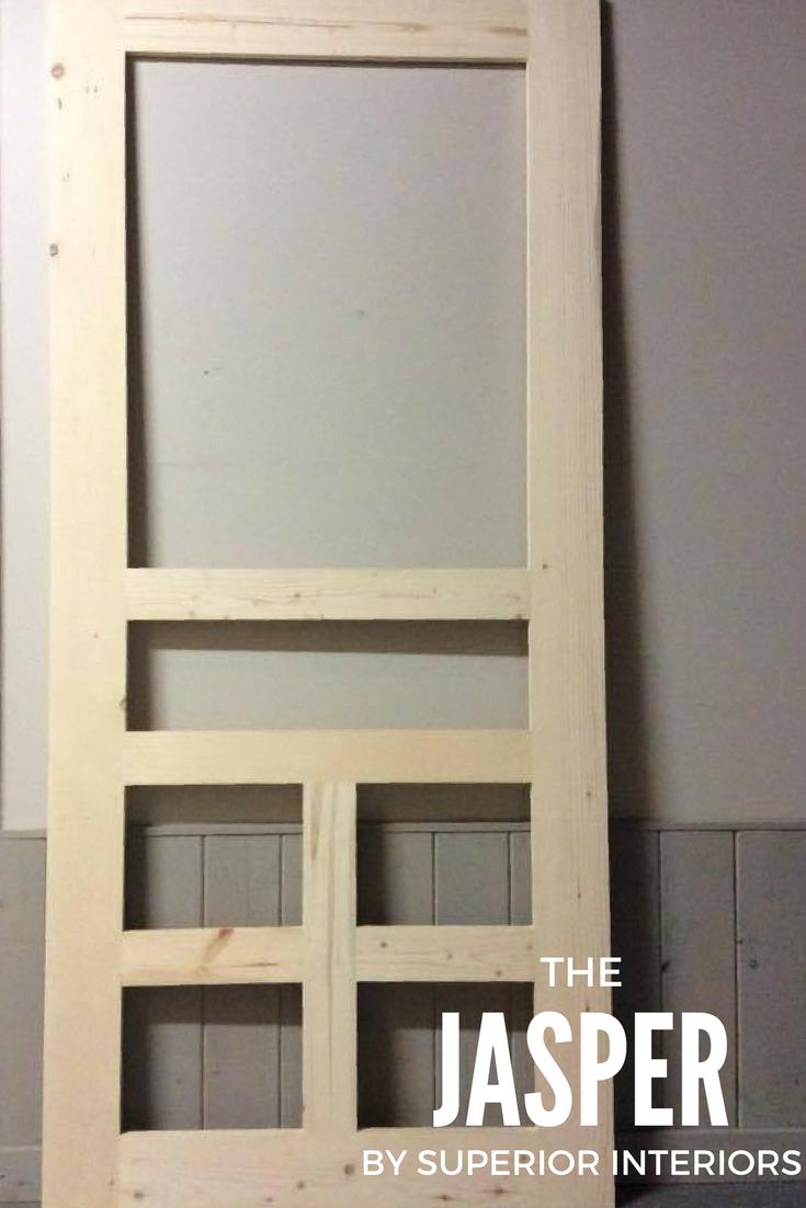 The Jasper Superior Screen Door Custom Screen Doors Wood Screen Door Painted Screen Doors