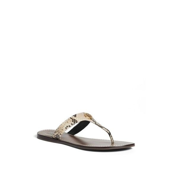 Women's Tory Burch 'Cameron' Thong Sandal (207 CAD) ❤ liked on Polyvore · Sandals  SaleShoes ...