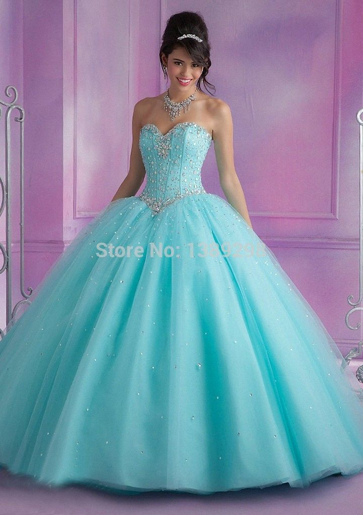 vestidos de 15 anos Quinceanera Dresses 2015 sweet 16 dresses coral Blue Pink Sleeveless Sweetheart Bodice Corset  Ball Gown