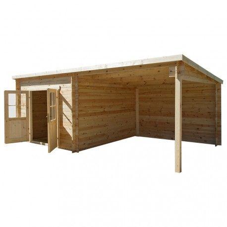 Abri Toit Plat 9m Plus Terrasse Couverte Laterale 9m Gardy Shelter Toit Plat Terrasse Couverte Et Abri Jardin Toit Plat