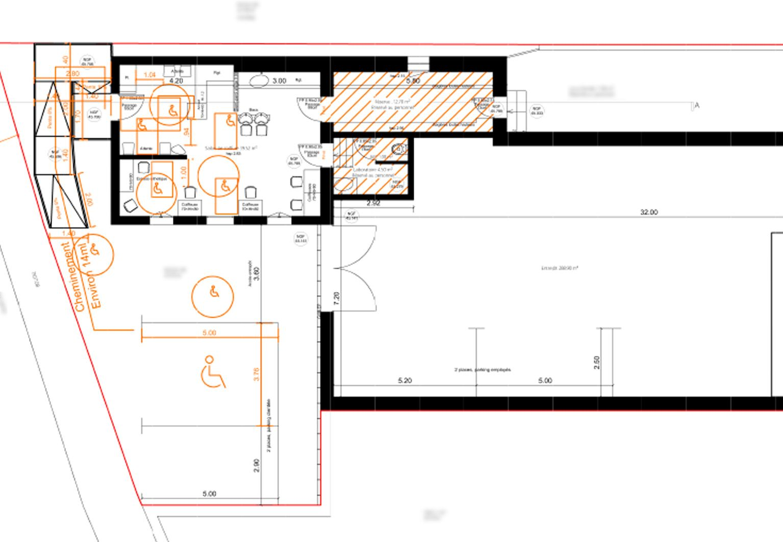 Accessibilite Handicape Salon De Coiffure Permis De Construire Monteux Plan D Amenagement