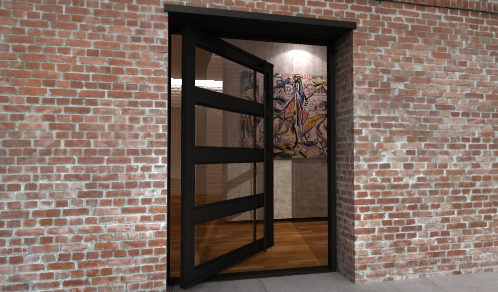 Paragon modern steel doors up to 16 39 high modern front for Door design steel