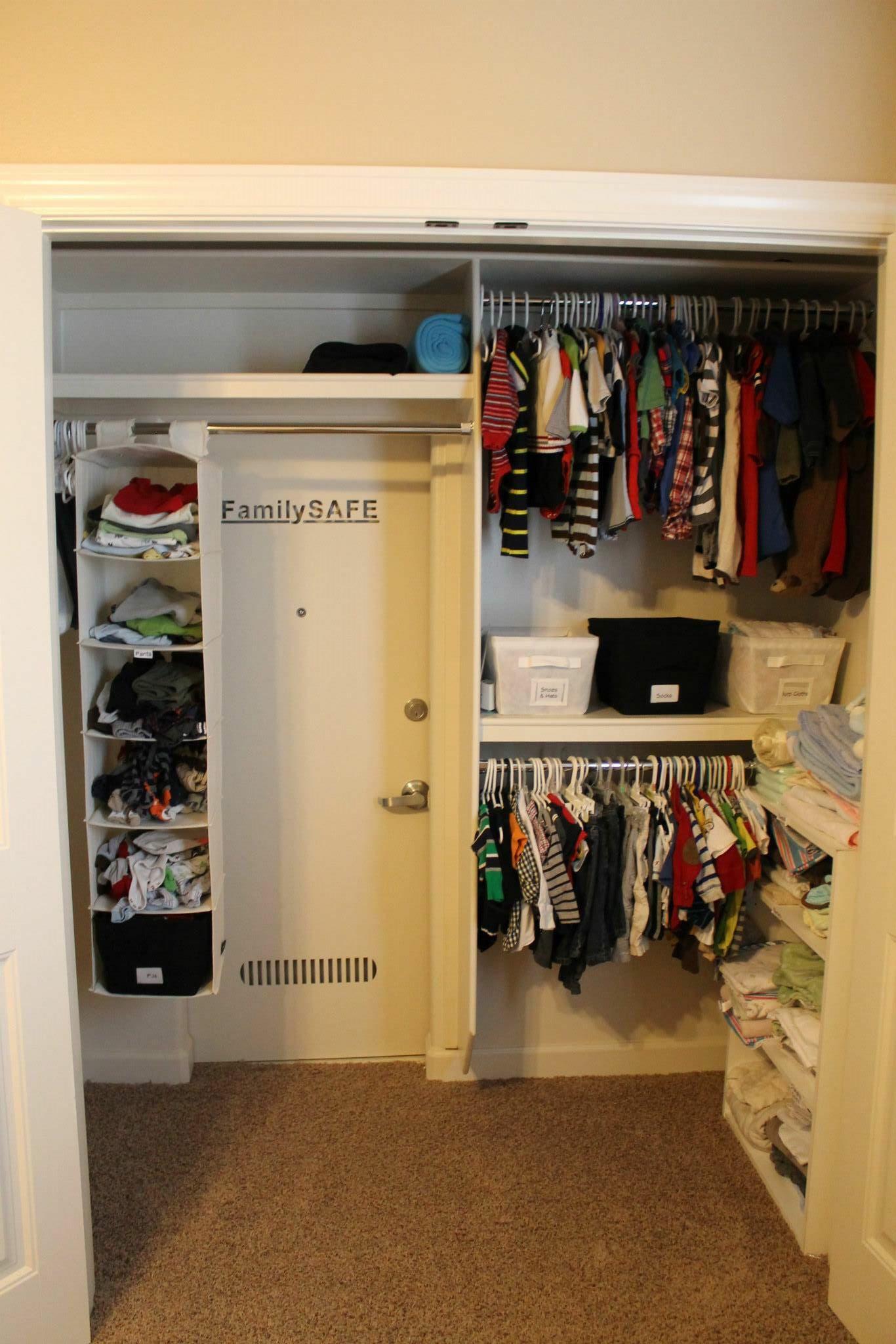 Hidden safe room in this closet tornado safe room safe
