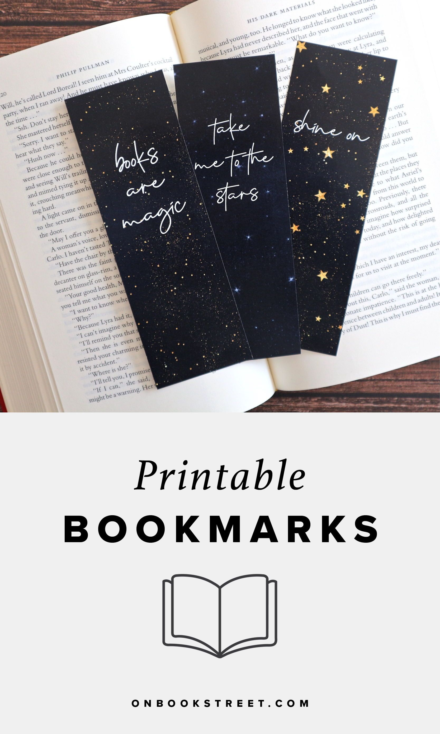 Printable Bookmarks Galaxy Stars Space Quotes Bookmarks For Books