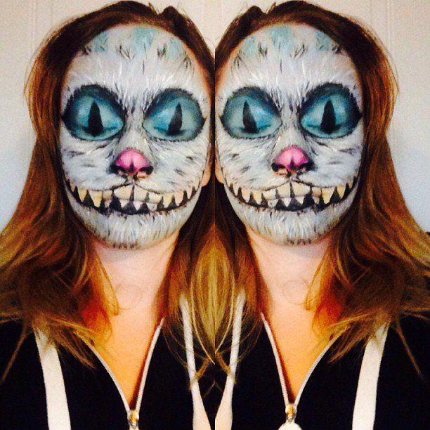 Cheshire Cat Cheshire cat, Halloween makeup and Halloween face - cat halloween makeup ideas