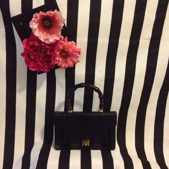 Vintage 1960s Best Craft Black Embossed Leather Doctors Satchel Style Handbag.Black Purse.Vintage Box Purse.Kelly Handbag on Etsy, $35.00