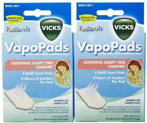 Vicks Baby Rub Waterless Vaporizer Scent Pads 2 Pk By