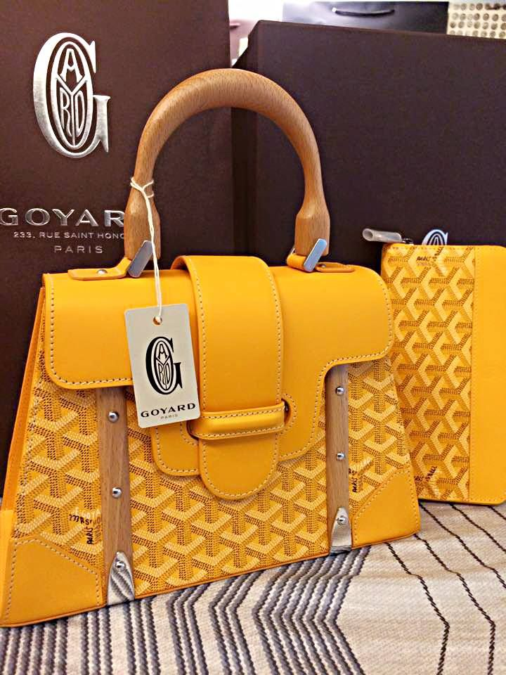 bdf5acee93 Yellow Goyard Saigon Bag  D Goyard Wallet