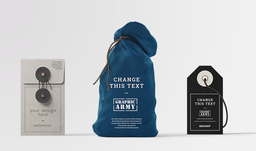 Download Free Sample Scene Branding Mockup Bag Envelope Tag Graphicarmy Branding Mockups Branding Mockup