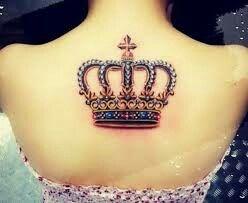 pretty colorful crown tattoo tattoos pinterest tattoo rh pinterest nz Princess Tiana Tattoo disney princess tiara tattoo