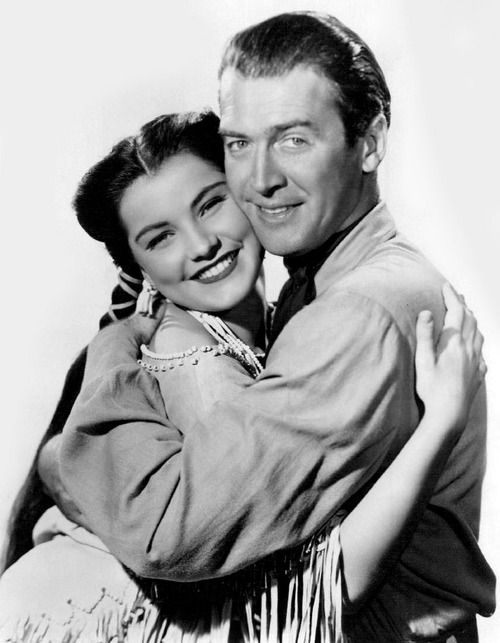 Image result for debra paget and jimmy stewart in broken arrow