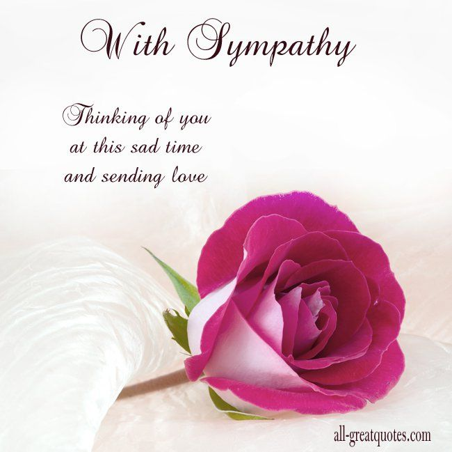 thinking of you at this sad time and sending love thinking of you