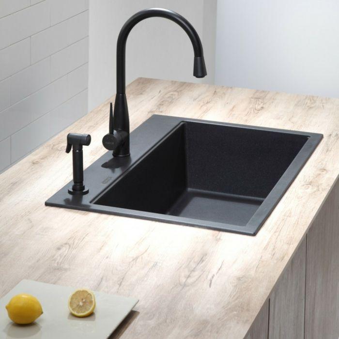 schöne wohnideen küche einrichten spülbecken granit | Spülecke ... | {Spülbecken küche granit 17}