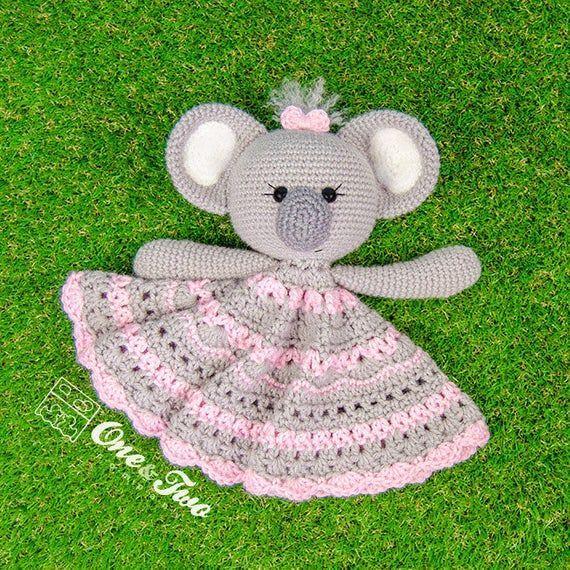 Lovey Crochet Pattern - Koala PDF Security Blanket - Tutorial Digital Download DIY - Kira the Koala Lovey - Dou Dou - Baby Toy - Snuggle Toy